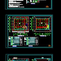 484平米两层框架结构小办公楼电气图纸