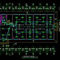 747平米两层框架结构办公楼电气图纸