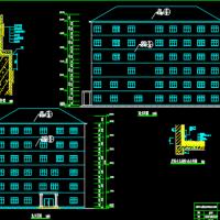 湖南3413平米6层框架结构办公楼建筑结构全套课设图