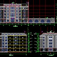 山东16717平米6层框架结构办公楼建筑及结构全套图(预制装配式)