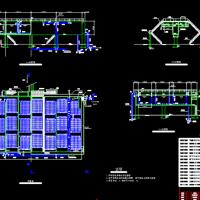 城市污水处理厂曝气池平剖面毕业设计图