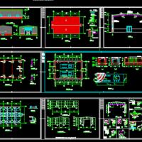 钢构发电机房建筑及结构全套施工图