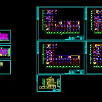 某中学两栋教学楼建筑设计方案图纸