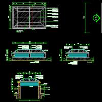 多个地下车库采光井CAD设计详图
