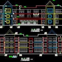 三层六班幼儿园建筑设计施工图(立面漂亮)
