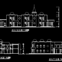 两层六班幼儿园建筑方案图