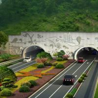 隧道洞门景观设计图纸及效果图