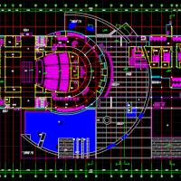浙江7521平米1200座影剧院设计施工图(含效果)