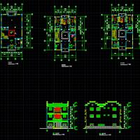 10.7X17徽派民居建筑设计设计图纸