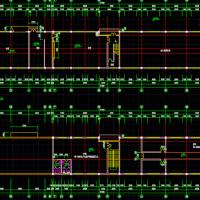 上海1679平米两层框架结构社区活动中心建筑结构全套图