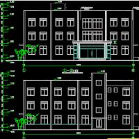 成都1353平米三层框架结构办公楼建筑及结构全套图