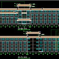 5226平米4层小型宾馆建筑设计图纸