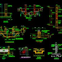 筏板基础集水坑 电梯底坑 排水沟结构详图