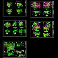 某中心地下热交换站及人防风机房设计详图