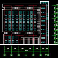 6499平米行政办公楼建筑CAD方案图(含su模型)