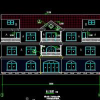 山东893平米厂区23X14.9三层公寓楼建筑设计图纸