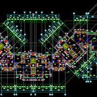 广州7719平米11层住宅楼建结水电全套施工图