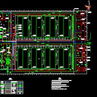 中小型污水处理厂总平面CAD图