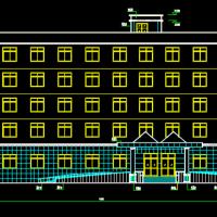 某2982平米综合办公楼课设CAD图(建筑专业)