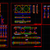贝雷梁桁架结构图