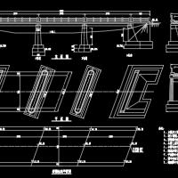 斜交钢筋混凝土板桥漫水桥全套施工图设计(3-10米)
