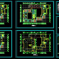 某四层框架结构中学教学楼方案图
