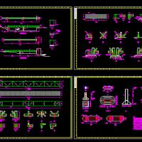 钢结构栈桥CAD设计图纸(管道支架)