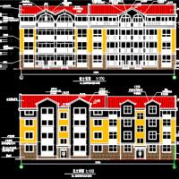 北京1649平米四层砌体结构住宅设计图纸