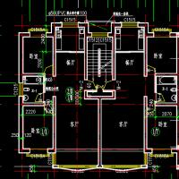 多层住宅两居室与三居室户型CAD图