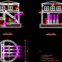 某污水处理厂氧化沟工艺设计图(毕业设计含说明书)