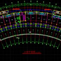 北京某弧形酒店建筑设计施工图(含效果)