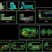 风云大酒店建筑设计施工图