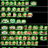 60多个个多层住宅户型平面图
