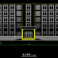 桂林8000平米四层框架商业楼建筑结构毕设图(带计算书)