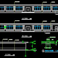 某厂区895平米一层框架结构食堂建筑设计施工图纸