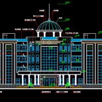 某住宅小区737平米四层框架结构欧式会所建筑设计图纸