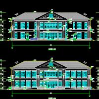 某小区1206平米两层框架会所建筑设计方案图
