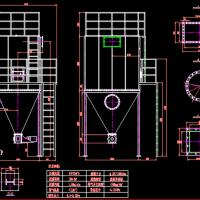 脉冲布袋除尘器CAD图纸