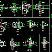 钢结构商场结构设计CAD施工图