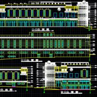 大连9945平米三层购物广场建筑施工图纸