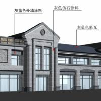 宁夏1390平米两层沿街商业楼建筑设计图纸(带效果)