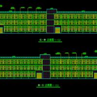 景德镇11775平米三层框架结构厂房建筑图纸