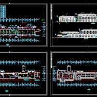 桐乡河滨小区1590平米两层沿街商业楼建筑方案图纸