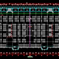 某地美食城商业楼建筑设计图纸