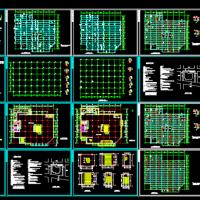 沈阳市7802平米中型商场建筑结构全套设计图纸