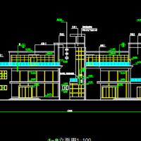 1760平米小区三层会所建筑设计图纸