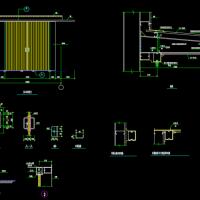 厂房仓库钢结构推拉门及钢结构雨篷详图