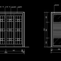 室内装修琉璃推拉门及折叠门CAD详图