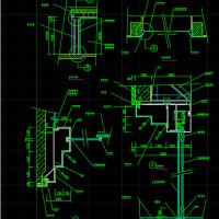 钢化玻璃推拉门CAD详图