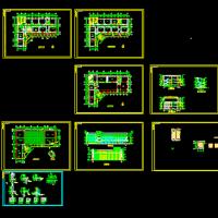 某地三层框架结构12班中学建筑设计CAD图纸(课程设计)